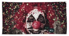 Carnival Clown With Balloon Cake Decoration Hand Towel