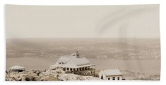 Casino At The Top Of Mt Beacon In Sepia Tone Bath Towel