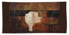 Castaway Cats Hand Towel by Blue Sky