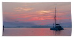 Catamaran At Dawn Bath Towel