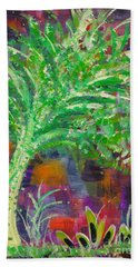 Bath Towel featuring the painting Celery Tree by Holly Carmichael