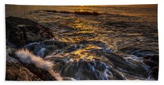 Chamoso Point In Ares Estuary Galicia Spain Hand Towel