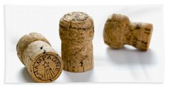 Hand Towel featuring the photograph Champagne Corks by Lee Avison