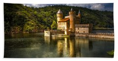 Chateau De La Roche Hand Towel by Debra and Dave Vanderlaan