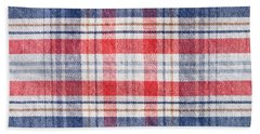Checked Material Bath Towel