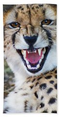 Cheetah With Attitude Bath Towel by Stanza Widen