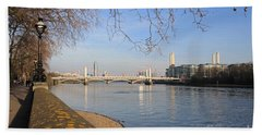 Chelsea Embankment London Uk Bath Towel