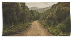 Classic Old Dirt Road Landscape In Australia Bath Towel