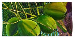 Coconuts At Sunset Hand Towel