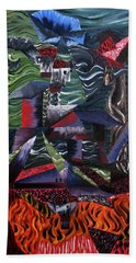 Hand Towel featuring the painting Cocytemensia by Ryan Demaree