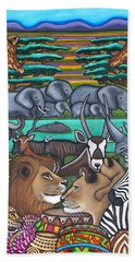 Colours Of Africa Bath Towel