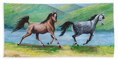 Colt And Mare Bath Towel