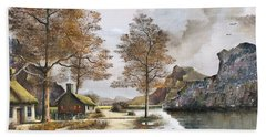 Crofters Cottages Hand Towel