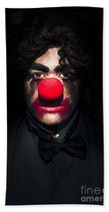 Dark Scary Clown Hand Towel