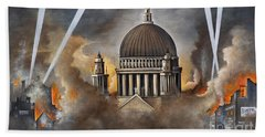 Hand Towel featuring the painting Defiance by Ken Wood