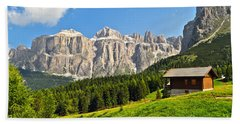 Dolomiti - High Fassa Valley Bath Towel by Antonio Scarpi