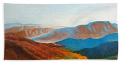 East Fall Blue Ridge Mountains 2 Bath Towel by Catherine Twomey