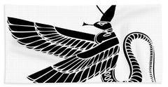 Egyptian Demon Bath Towel