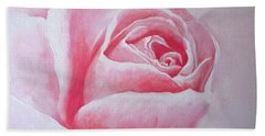 Hand Towel featuring the painting English Rose by Sandra Phryce-Jones