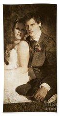 Faded Vintage Wedding Photograph Bath Towel
