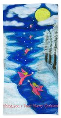Faery Merry Christmas Bath Towel