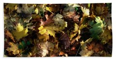 Bath Towel featuring the digital art Fallen Leaves by Ron Harpham