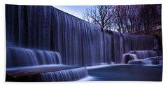 Falling Water Hand Towel by Mihai Andritoiu