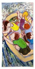 Family Vacation Hand Towel by Marilyn Jacobson