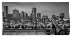 Federal Hill In Baltimore Maryland Hand Towel by Susan Candelario