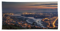 Ferrol's Ria Panorama From Mount Ancos Galicia Spain Hand Towel