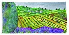 Fields At Dievole Bath Towel