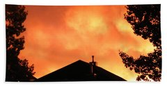 Fire In The Sky Bath Towel