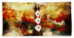 Fire On Lighthouse Hill Hand Towel