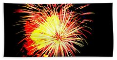 Fireworks Over Chesterbrook Hand Towel by Michael Porchik