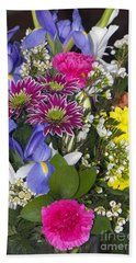 Floral Bouquet 2 Bath Towel by Sharon Talson