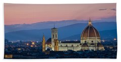 Florence At Sunset Bath Towel