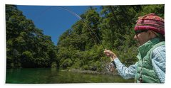 Fly Fishing Patagonia, Argentina Hand Towel