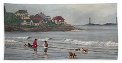 Fog Rolling In On Good Harbor Beach Hand Towel