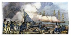 Fort Moultrie Battle, 1776 Hand Towel