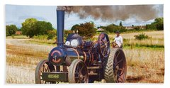 Bath Towel featuring the photograph Fowler Ploughing Engine by Paul Gulliver