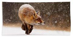 Fox First Snow Hand Towel