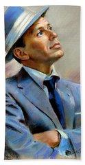 Frank Sinatra  Hand Towel by Ylli Haruni