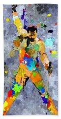 Freddie Mercury Hand Towel by Daniel Janda
