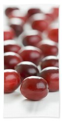 Hand Towel featuring the photograph Fresh Cranberries Isolated by Lee Avison