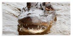 Gator Eyes Hand Towel by Carol Groenen