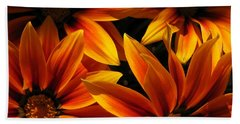 Bath Towel featuring the photograph Gazania Named Kiss Orange Flame by J McCombie