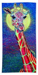 Hand Towel featuring the painting Giraffe by Viktor Lazarev