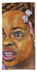 Girl With Dread Locks Bath Towel