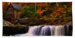 Glade Creek Grist Mill Bath Towel by Chris Flees
