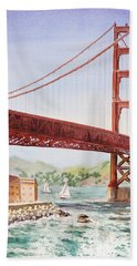 Golden Gate Bridge San Francisco Bath Towel
